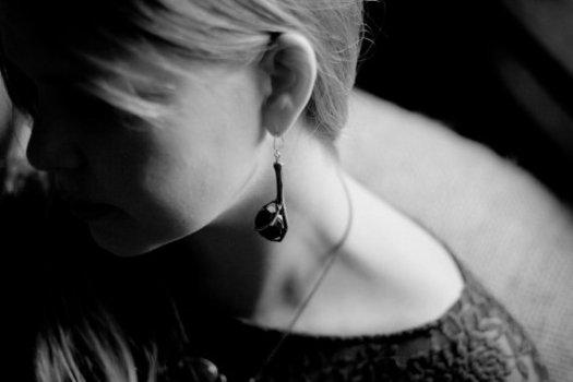 Griffes Noir Earrings