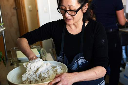 Marcia Chang-Hong, at work at in the kitchen at Thomas and Sons, Blenheim