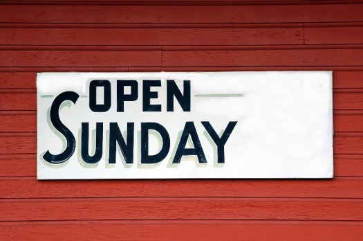 Thomas's is now open for Sunday trading